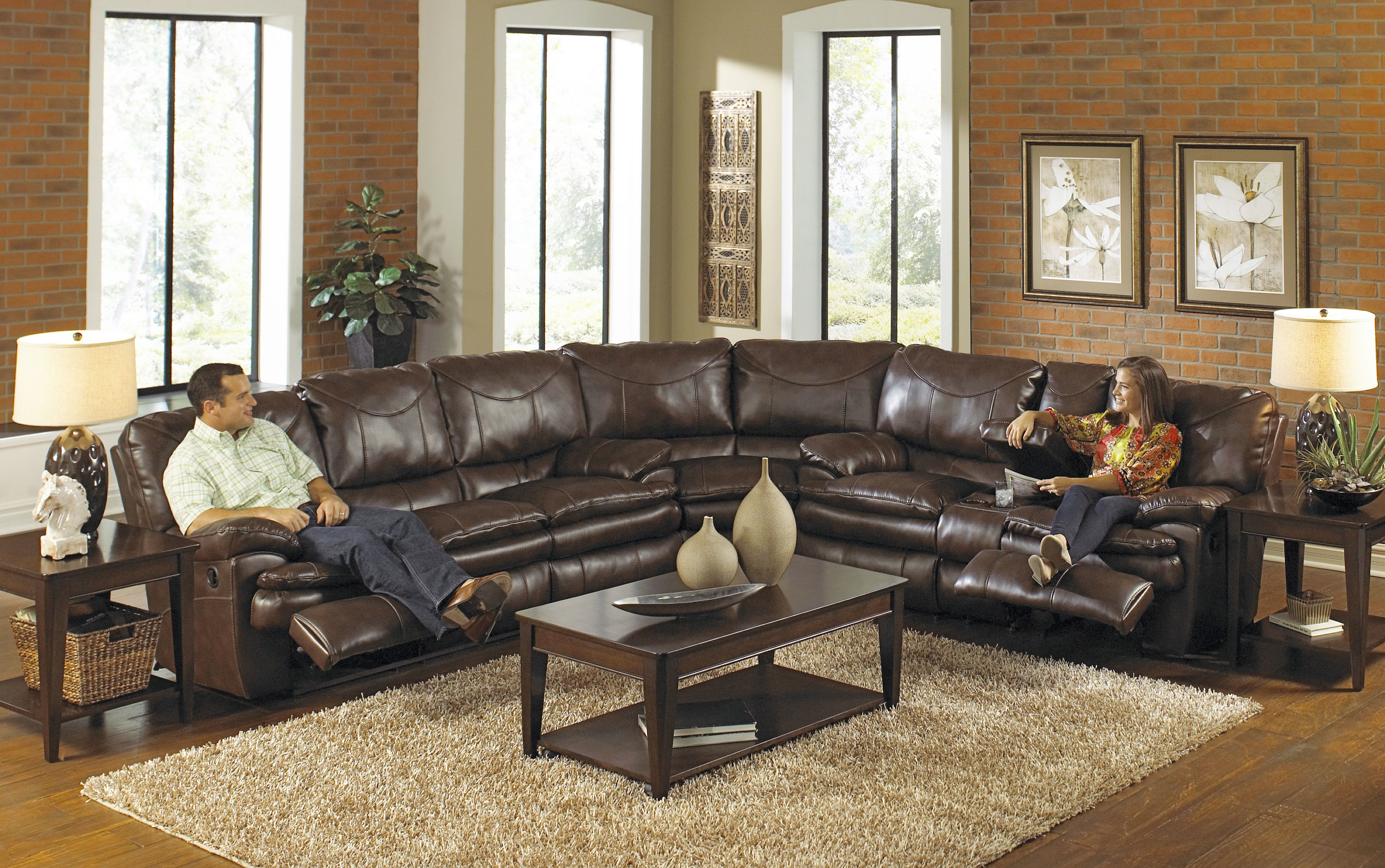 Leather Sectional Sofa With Recliner Buy Large Sectional Reclining