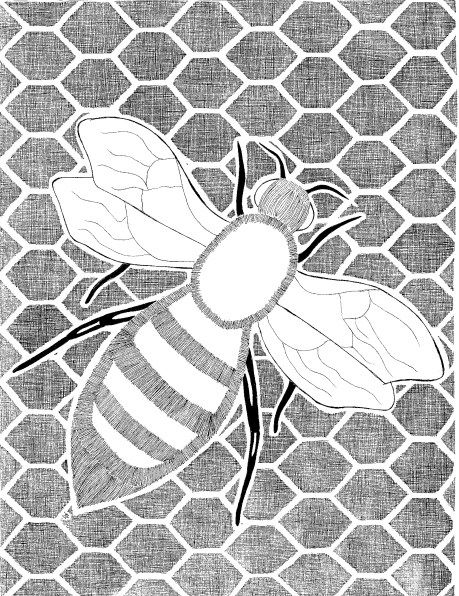 Bee Available As Pdf For Easy Printing Free Coloring Pages Coloring Pages Free Art