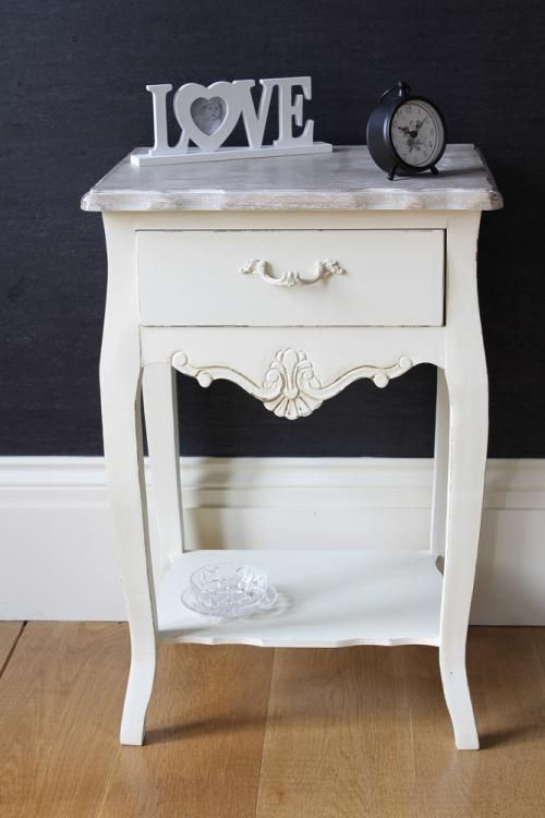 Cream Bedside Tables: French Style Bedroom, French Style