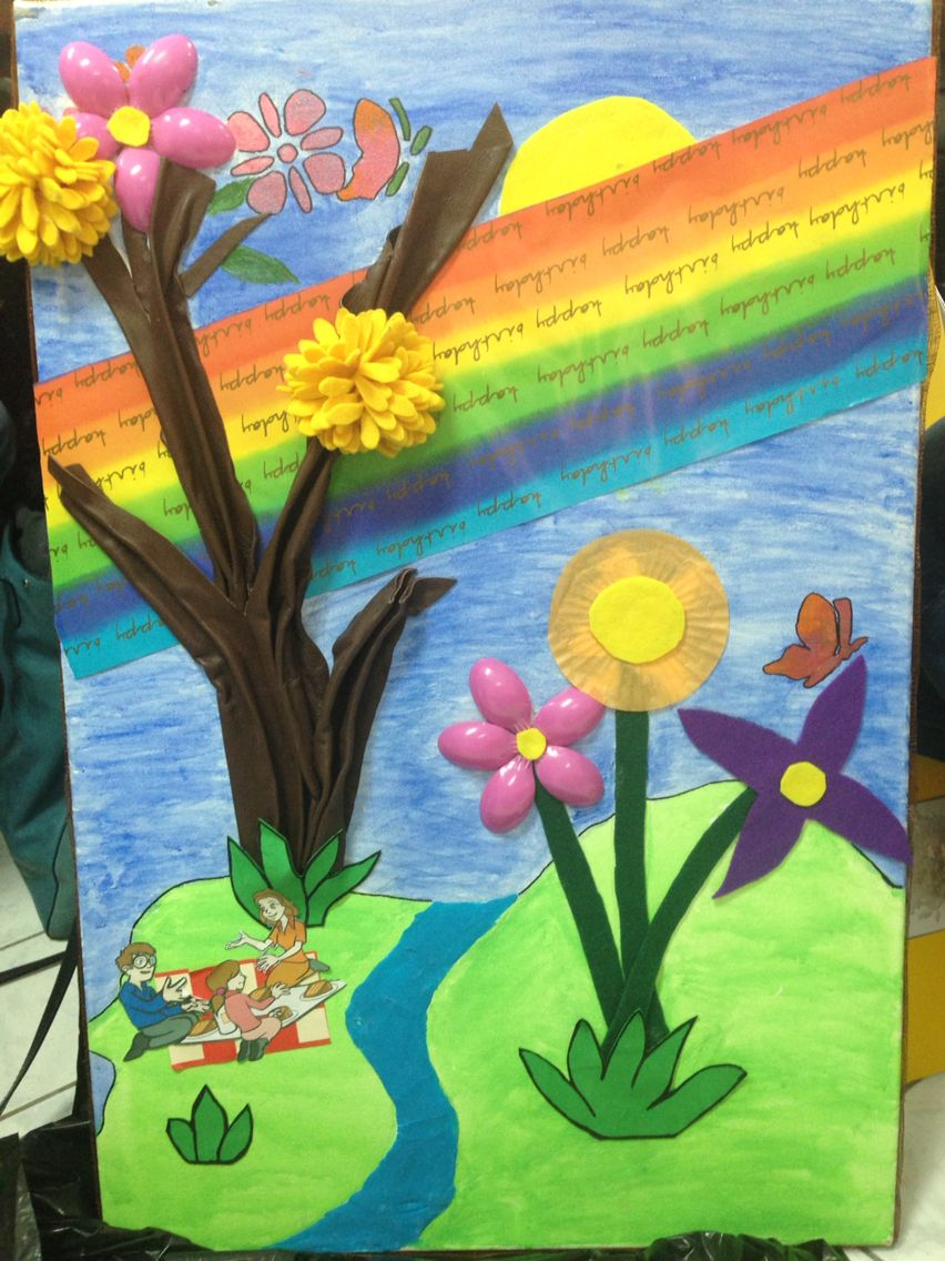 الحلقة استخدمت هذه اللوحة كمثير لإثارة الاطفال حول موضوع إعادة التدوير فكرة اللوحة عبارة عن لوحة فنية مكونه من خامات البيئة هدفي اعادة استخ Art Painting