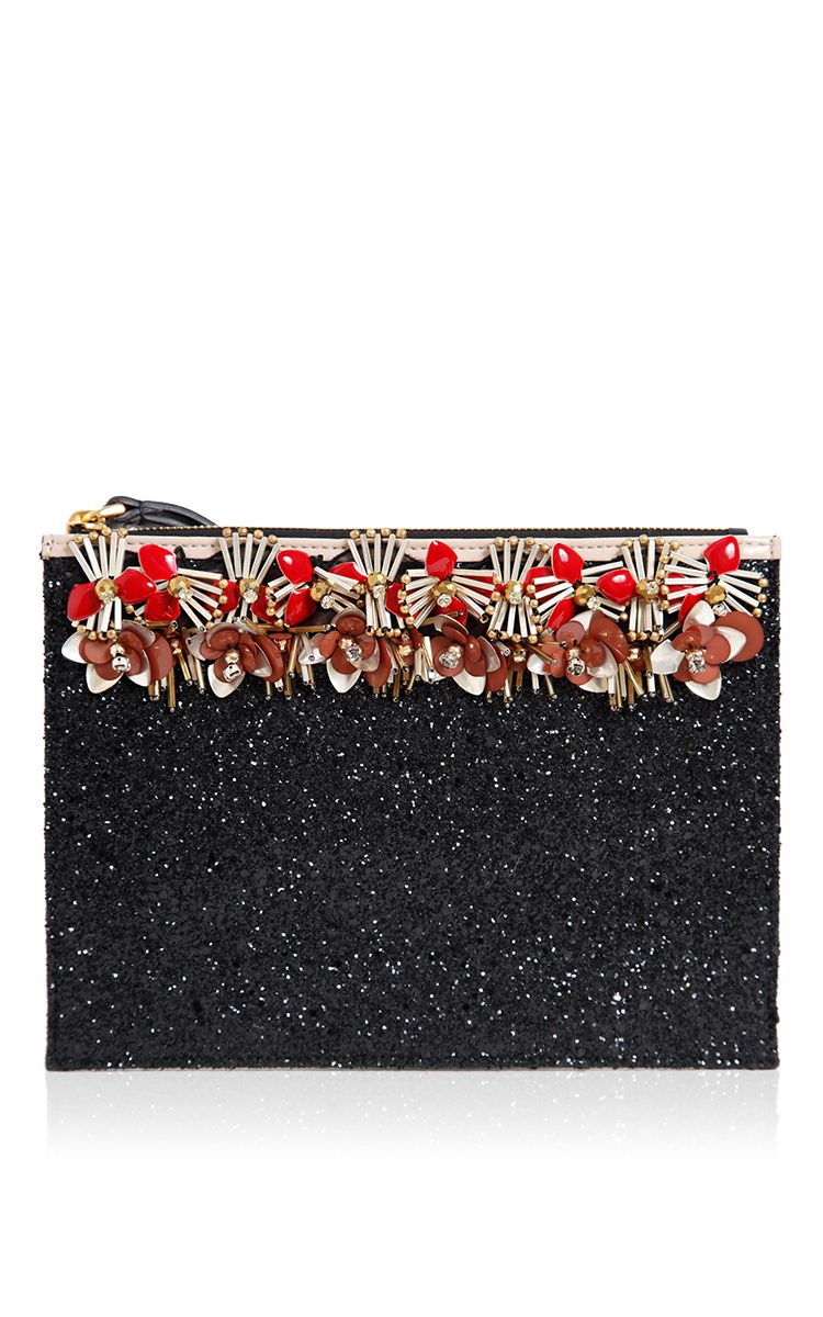 Marni Black Velvet Clutch
