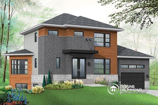 maison moderne avec bachelor maison contemporaine avec appartement au sous sol 3 chambres au. Black Bedroom Furniture Sets. Home Design Ideas