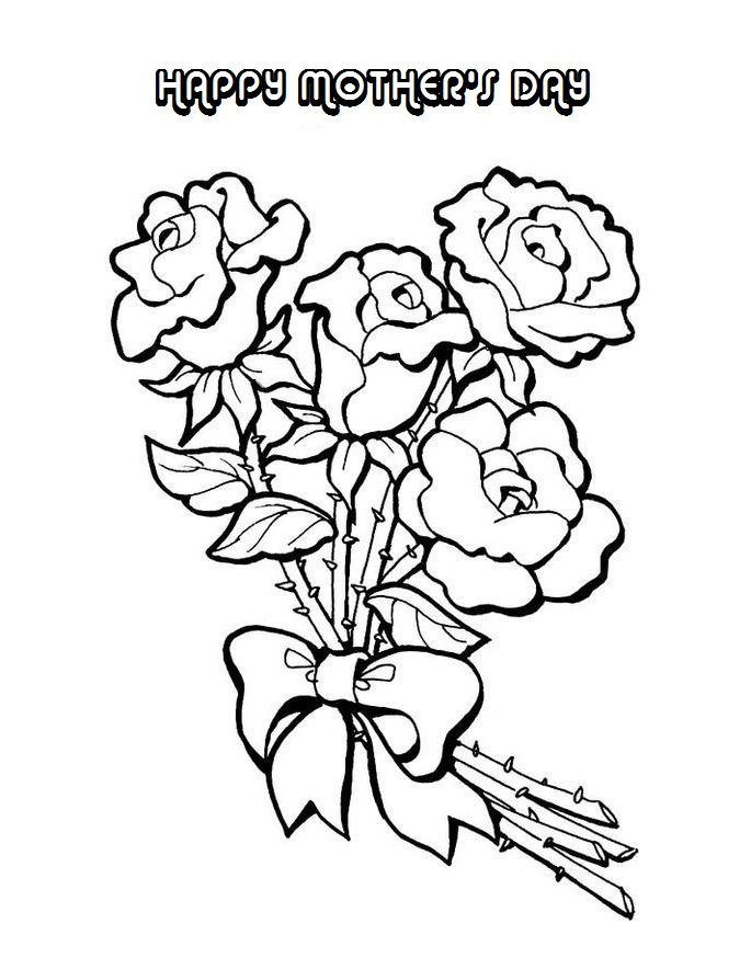 Mothers Day Coloring Pages - Coloring For KidsColoring For Kids - copy free coloring pages of hibiscus flowers