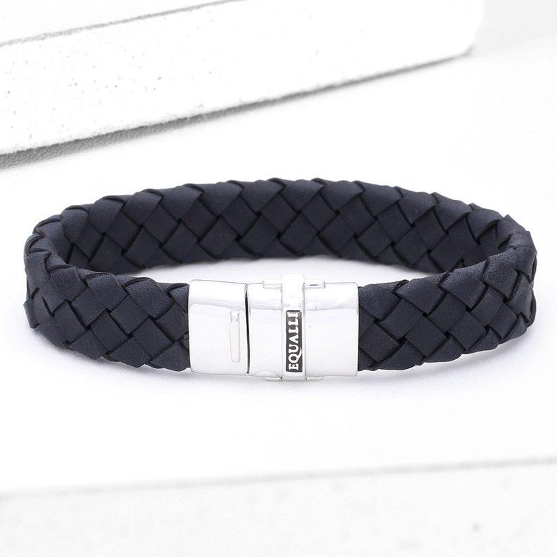 Victor Leather Bracelet in Blue SKU: BR2071-BLUE #area51partyoutfit