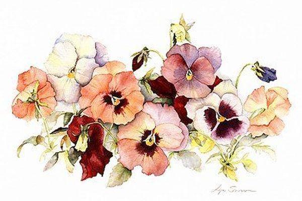 акварельные маленькие рисунки цветов: 19 тыс изображений найдено в Яндекс.Картинках