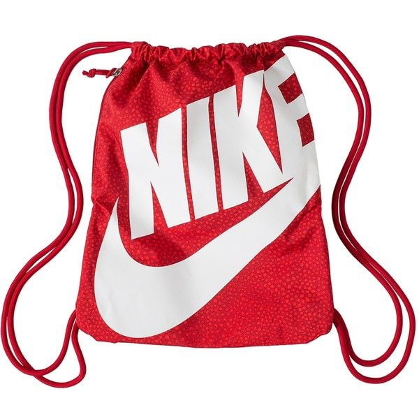 Nike Heritage Drawstring Backpack (€15) ❤ liked on Polyvore ...