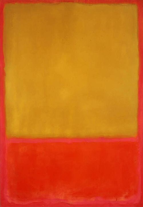 """Rothko. I just saw the play """"Red"""", about Rothko's life. Fascinating."""