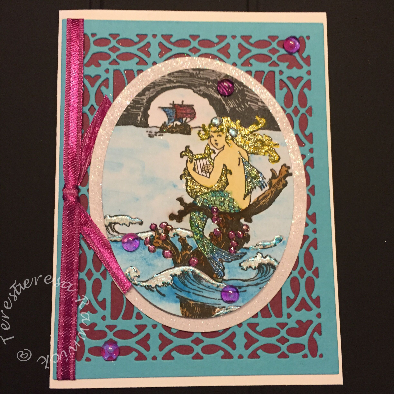 "Teresa Rawnick - Teresa Loves Stamps - My favorite So Suzy Stamps stamp ""Mermaid Ocean""  https://www.facebook.com/teresalovesstamps/"