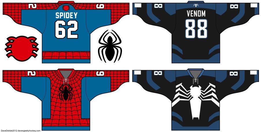 Spider Man And Venom Hockey Jersey Designs Hockey Jersey Jersey Design Jersey