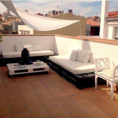 Sobesonhome mi terraza chill out de palets bombo - Ideas para aticos ...