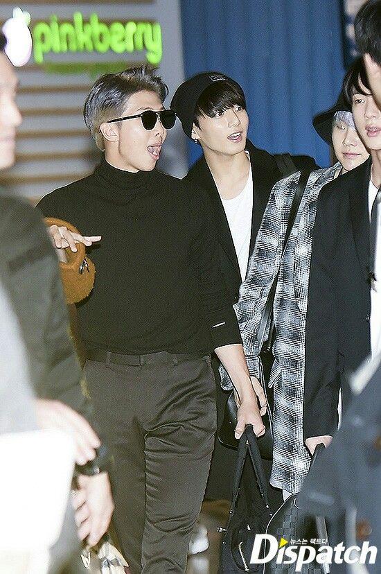 RM and Jungkook ❤ BTS X DISPATCH! BTS Arrive In LA! (171114 - original photos: dispatch.co.kr) #BTS #방탄소년단