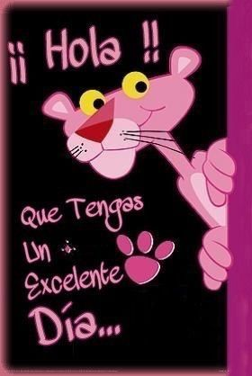 Pink Panther buenos días 🐾💗 on We Heart It