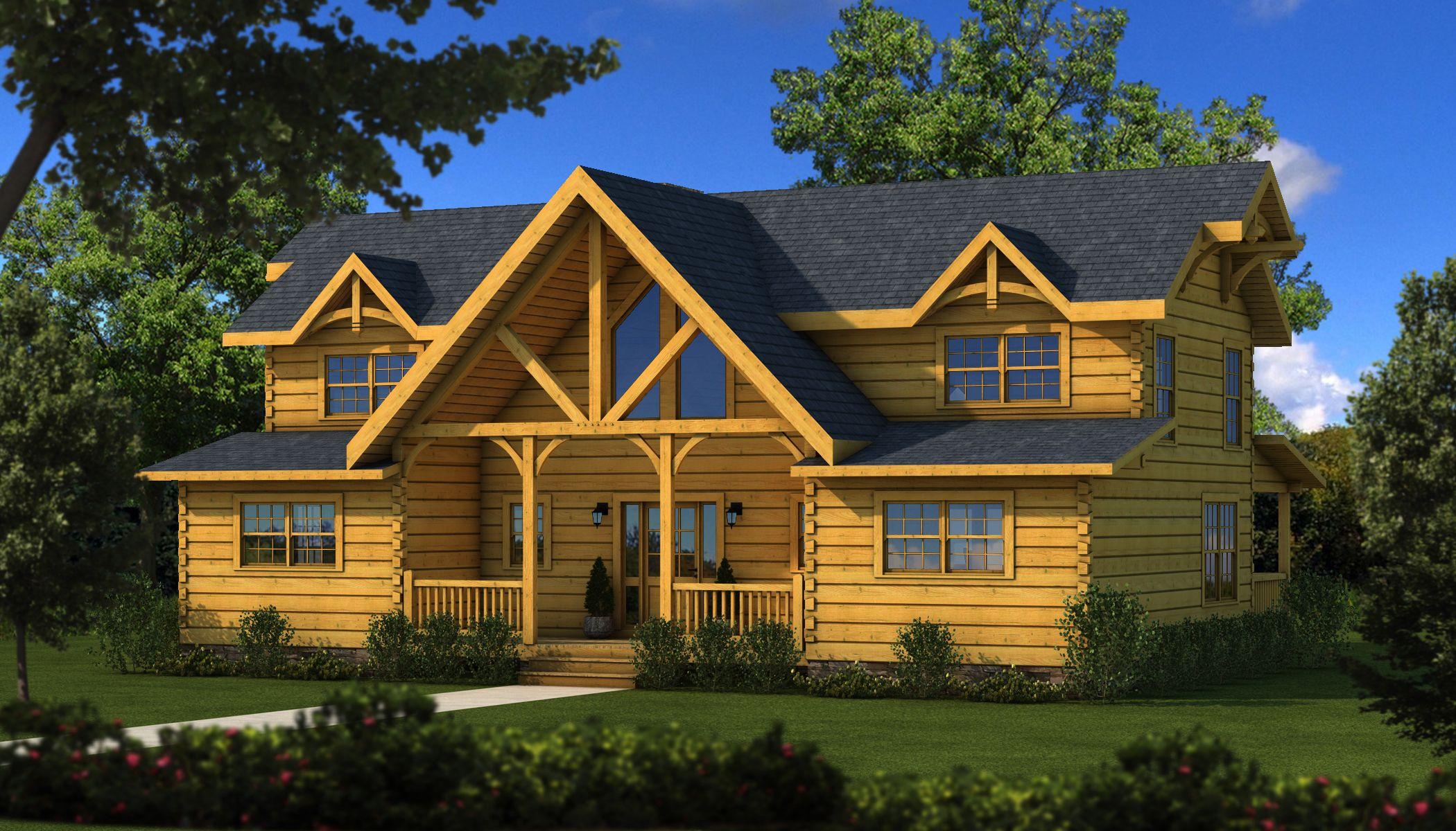 River Rock Tf Log Cabin Floor Plan Southland Homes