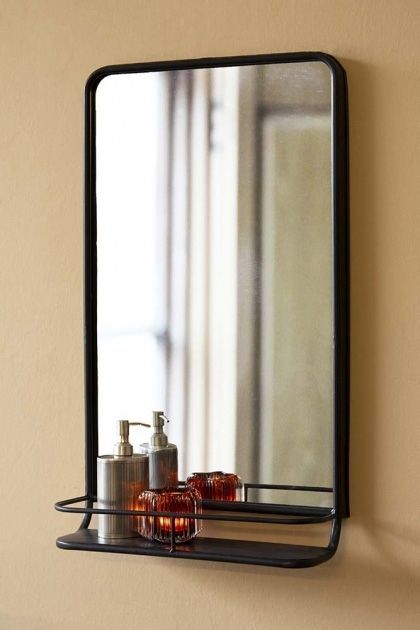 Untitled Teak Mirror Bathroom Mirror With Shelf Teak Interior Design