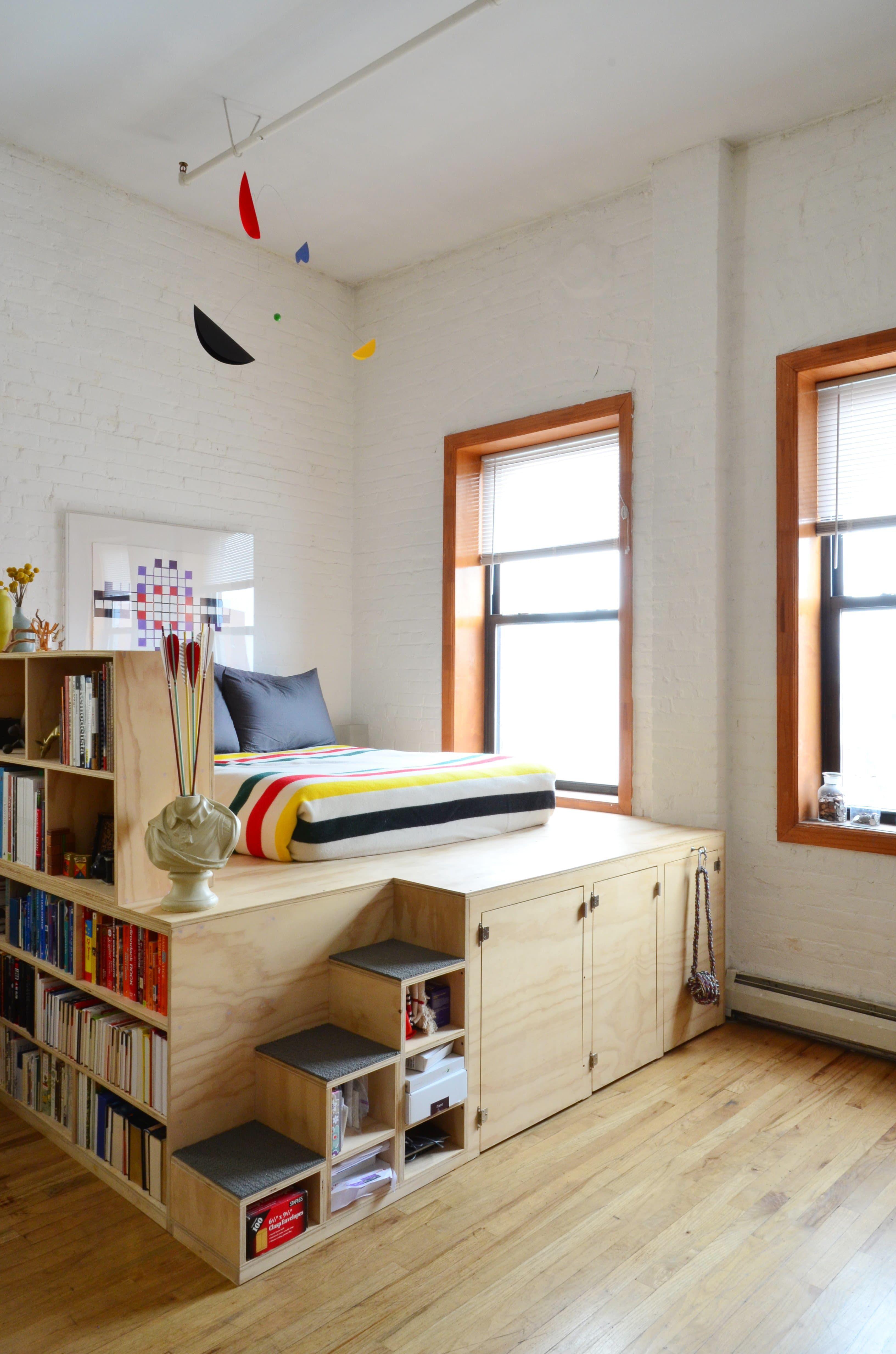 Loft bed underneath ideas  Elevated Loft Bed Hacks  Ugrades  Bed Design  Pinterest  Bedroom