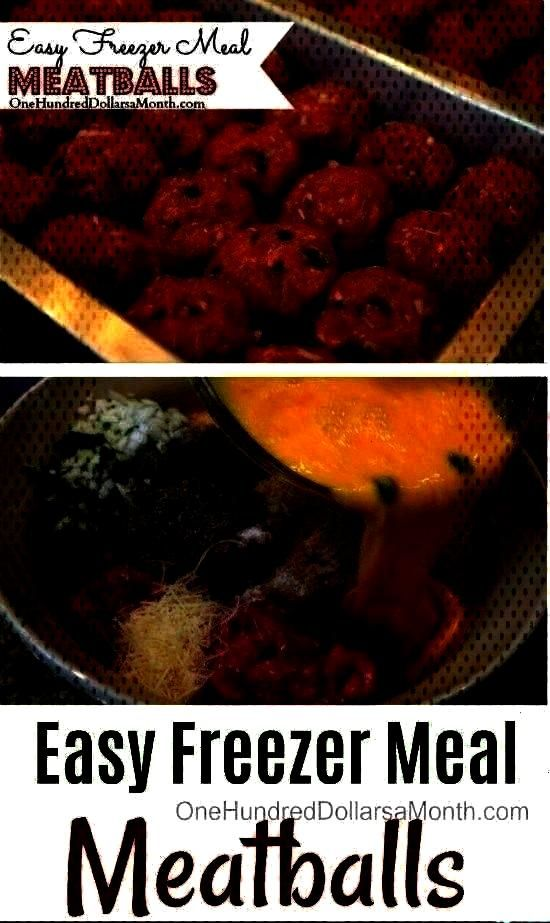 Hundred Dollars a Month -  Easy Freezer Meal Meatballs – One Hundred Dollars a Month  -Easy Freez