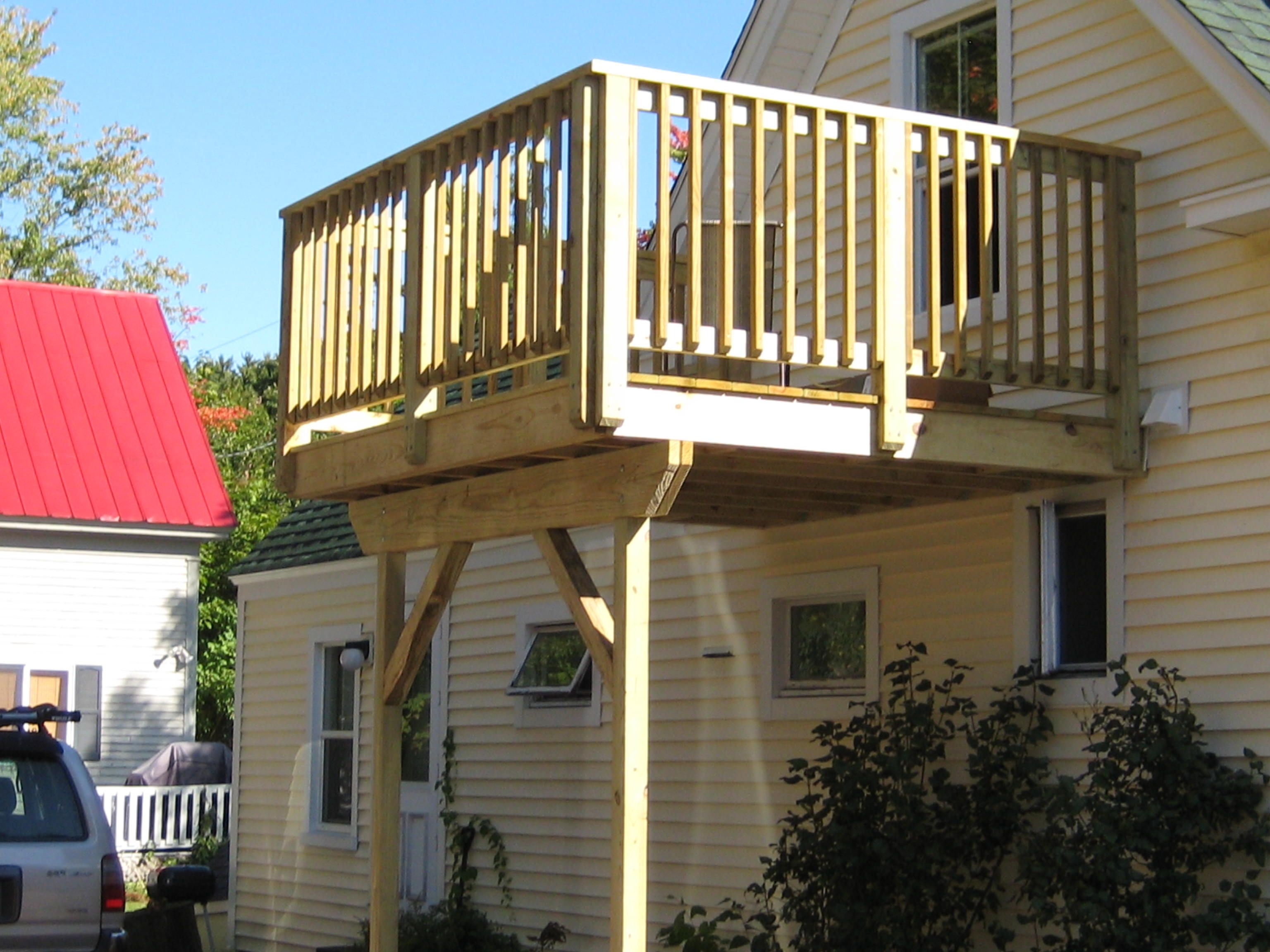 Simple Second Story Decks Google Search Small Balcony Design