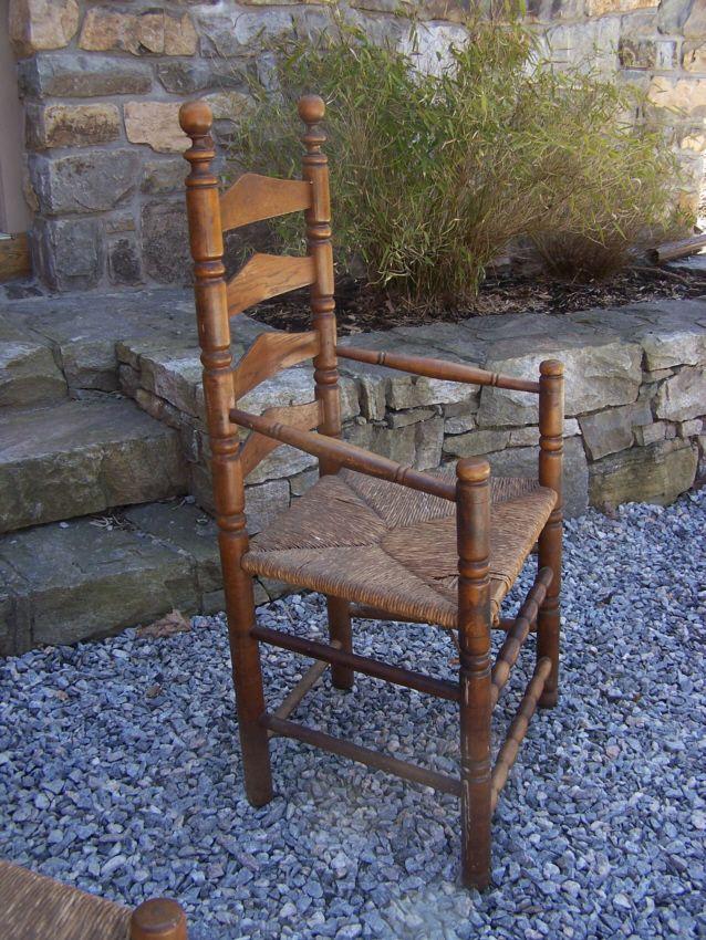 Pilgrim Wallace Nutting Furniture | 9159 Vintage Set Of Six Wallace Nutting  Pilgrim Style Ladder Back