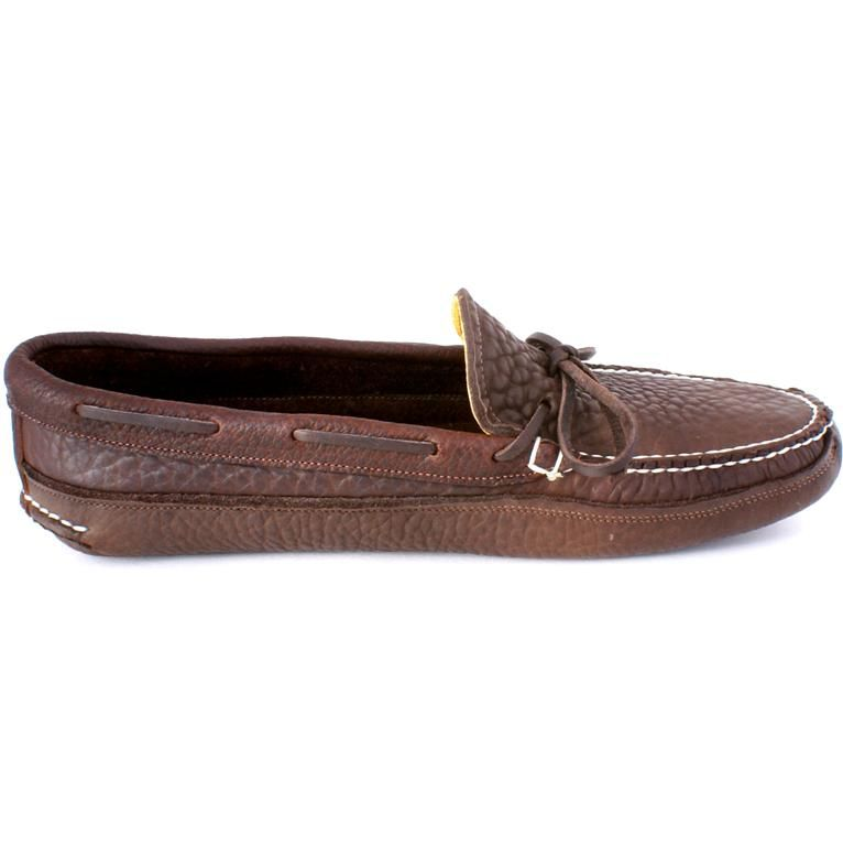faf4054e0ab Wassookeag Moccasins - Mens Buffalo Hide Unlined Triple Sole Canoe Moc