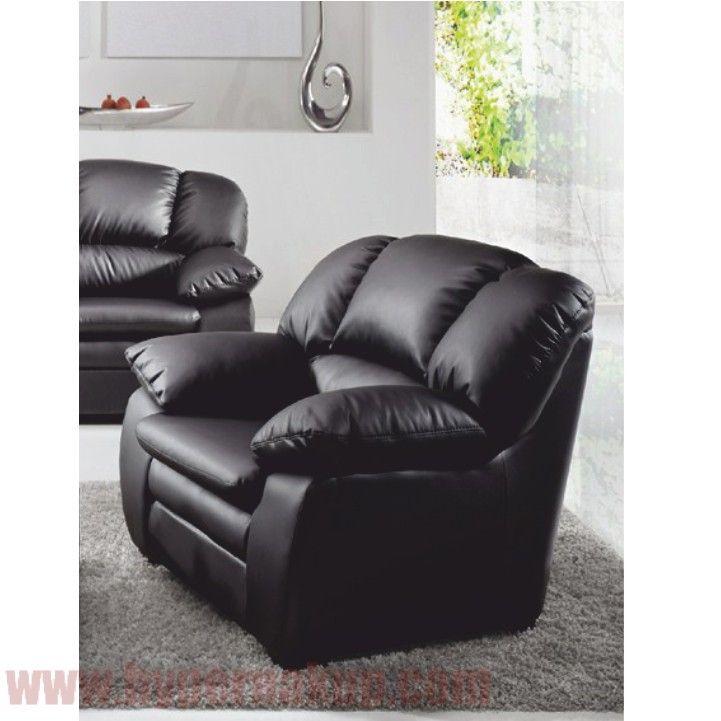 Kožené kreslo, koža YAK čierna M6900, CASINO