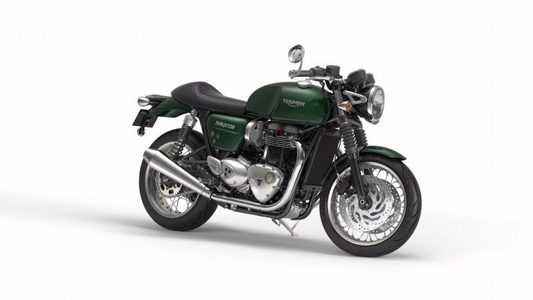 The Triumph Thruxton in Competition Green