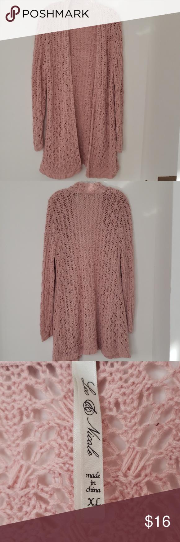 Crotch Pink Sweater Long length sweater Leo & Nicole