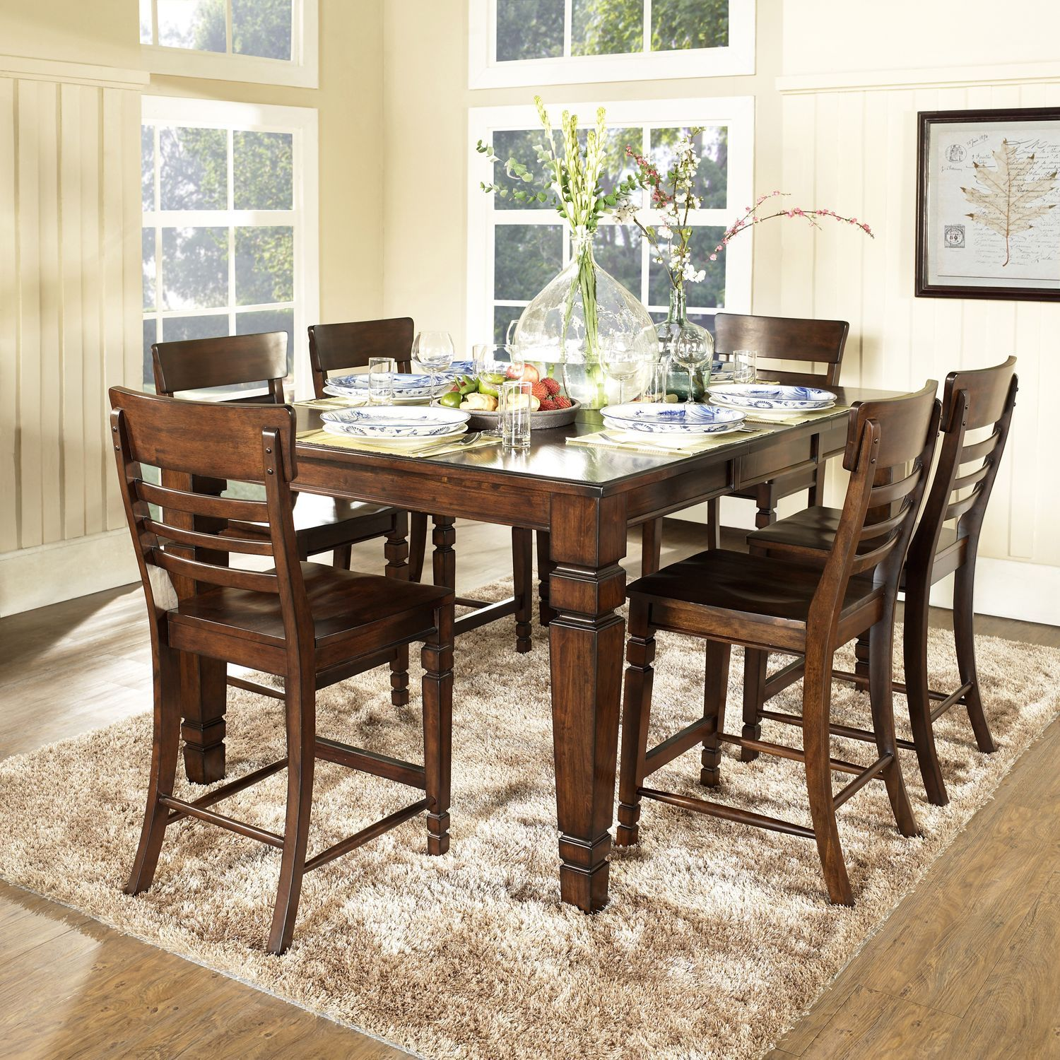 Our New Dining Room Set Under 700 From Samsclub Of All Places And Better Quality Than The Local Furniture Stores D Hogar Comedores Madera