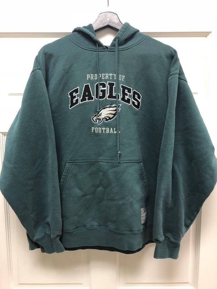Vintage Reebok Classics NFL Philadephia Eagles Green Warm Hoodie Free  Shipping  0a854d130