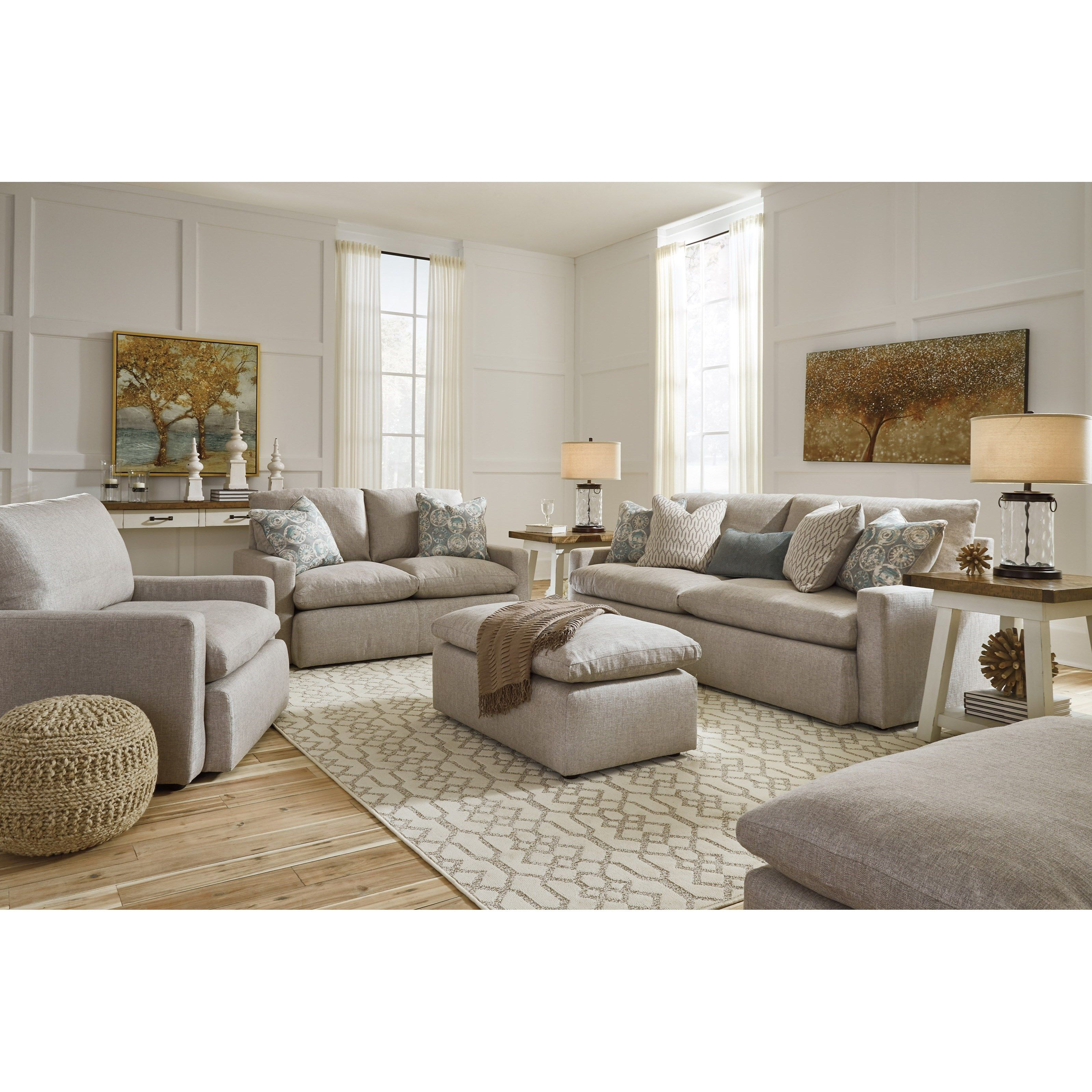 Sofa With Feather Blend Cushions Furniture Chair A