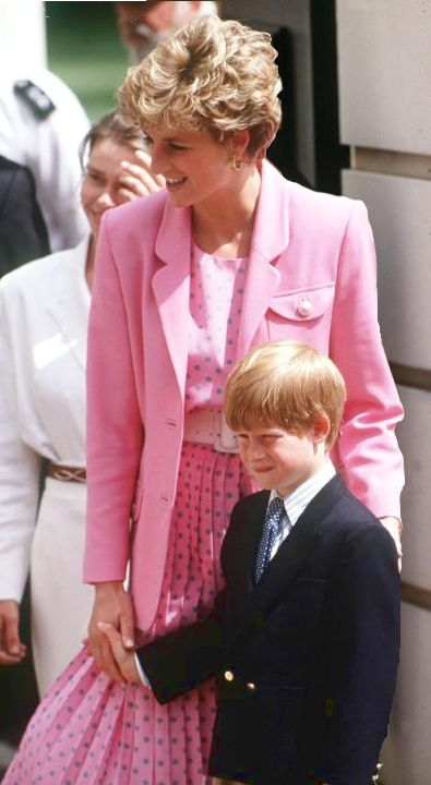 Princess Di with Harry, just lovely.