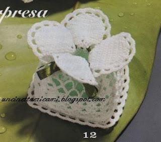 Bomboniera Segnaposto Matrimonio Uncinetto Horgol Crochet