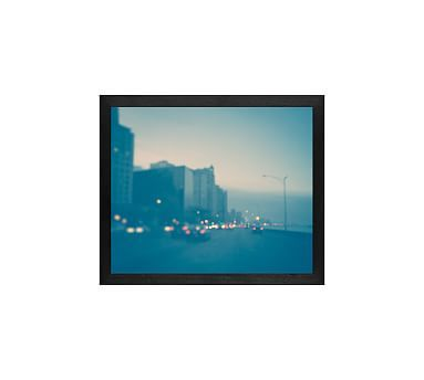 Blue Chicago Framed Print By Tracey Capone, 11x13\