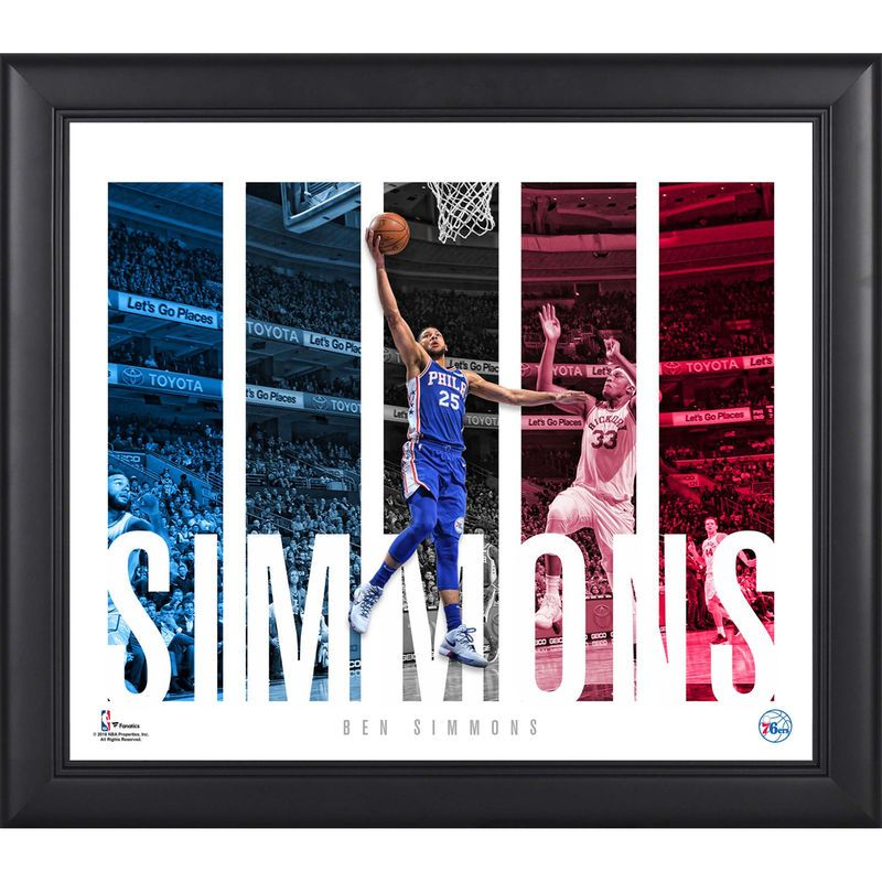 Ben Simmons Philadelphia 76ers Fanatics Authentic Framed 15