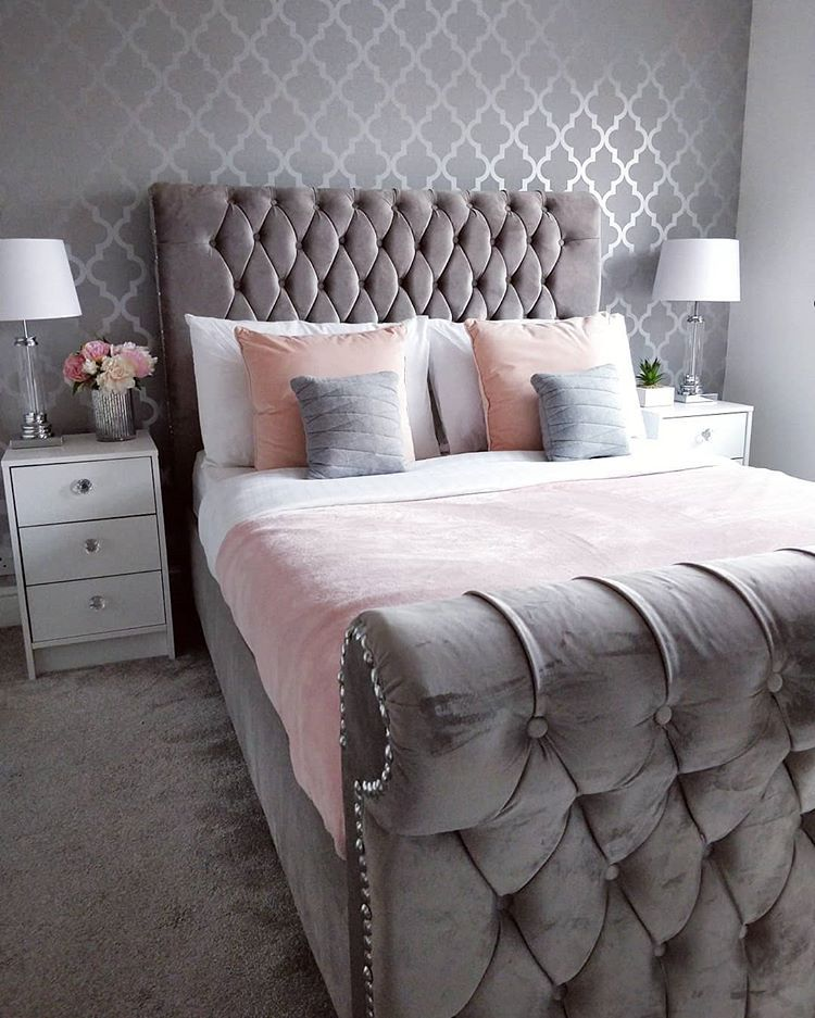 Sarah On Instagram Good Morning Everyone So Today Is The Day I Start Christmas Shopping No In 2020 Grey Bedroom Decor Pink Bedroom Decor Bedroom Decor Grey Pink