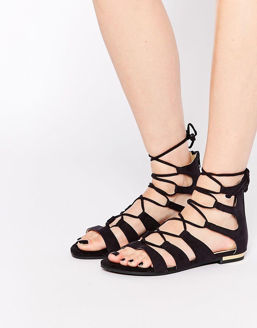6430cce51de Image 1 of Truffle Collection Gladiator Flat Sandals