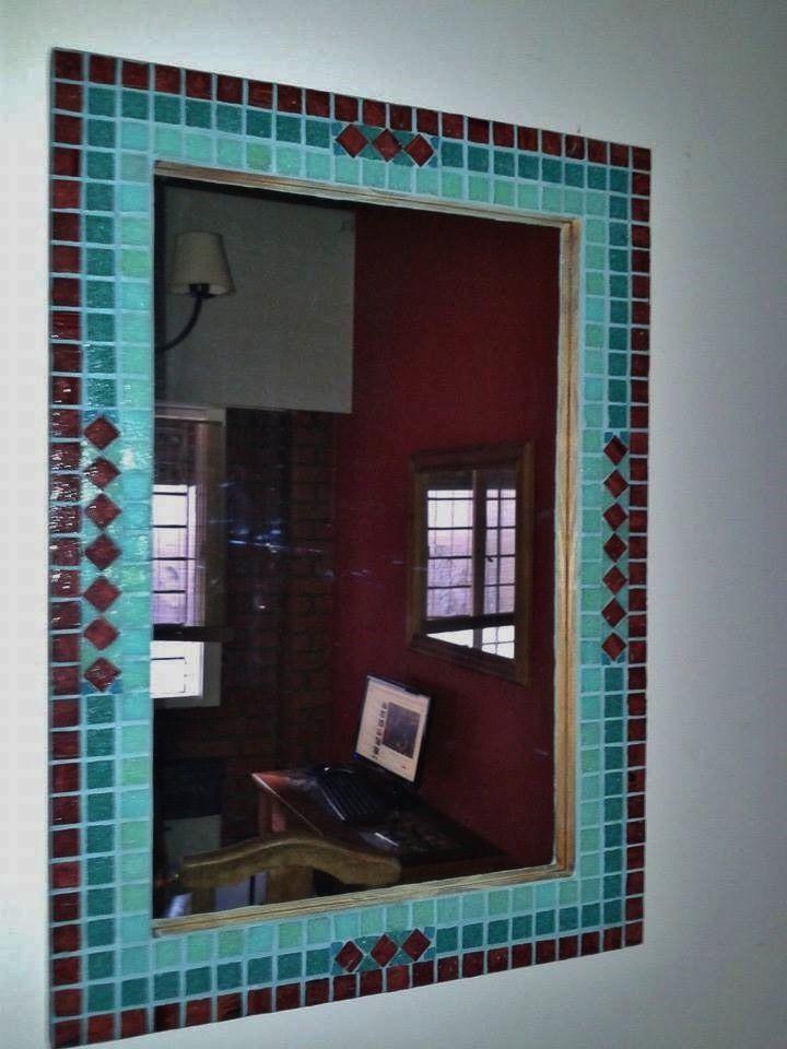 Espejos con venecitas medidas 50 x 70 ideal para ba os for Mosaicos para espejos