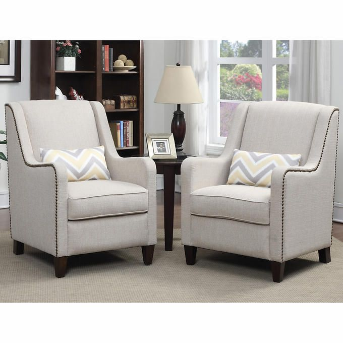 Kalyn Fabric Accent Chair 2-pack | Accent chairs, Living room redo