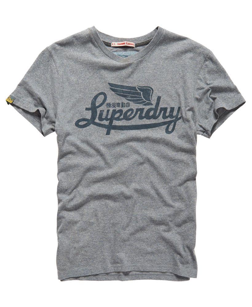 Mens - PT Training T-shirt in Quantico Grey Jaspe Marl | Superdry