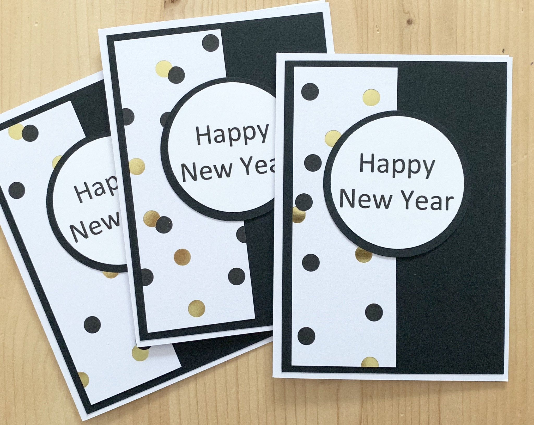 Items similar to Happy New Year Greeting Cards. Handmade Confetti New Years Cards. Blank 2020 Cards on Etsy