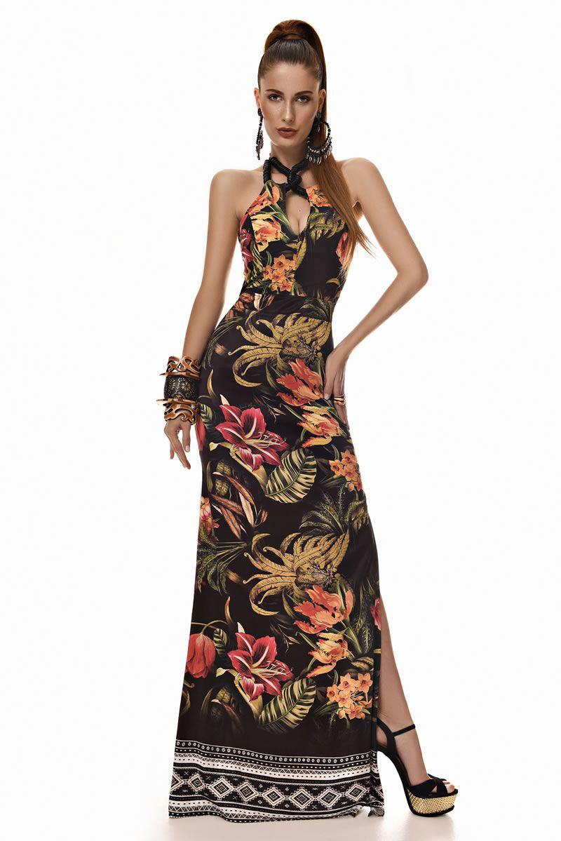 a72c9b85d12e Lookbook - Franciele Morezzi Vestido Longo, Estampas, Estampas Fashion,  Paraíso