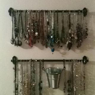 Jewelry Organizertryin This One Just Bought Thin Curtain Rod From Target