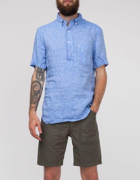 5836d6f293e3b Short sleeve linen popover shirt from Gitman Bros. Gitman Brothers Vintage  S S Linen Pop Over  180.00 100% Linen Made in USA