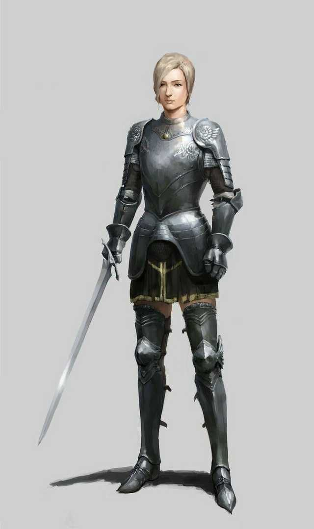 Dungeons & Dragons: Fighters, Paladins & Clerics III (inspirational) in 2020   Female knight ...