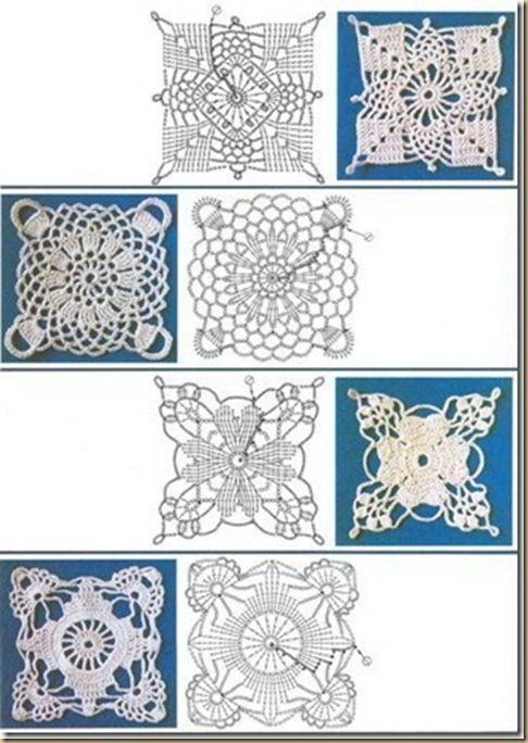 cuadrados de ganchillo fáciles | Muestras de tejido | Pinterest ...