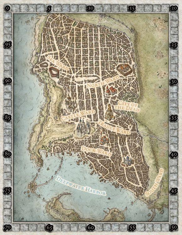 Map Of Waterdeep : waterdeep, Waterdeep, Fantasy, Design,, Imaginary