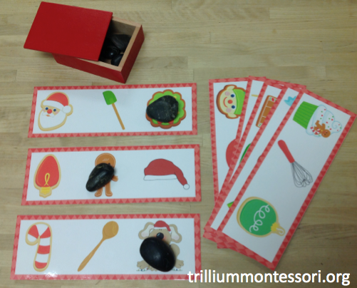"""December Ending Sounds, """"What Doesn't Belong?"""" (from Trillium Montessori)"""
