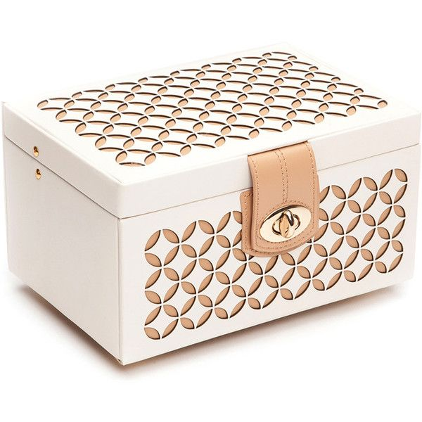 Wolf Chloe Cream Jewelry Box Small 132 liked on Polyvore