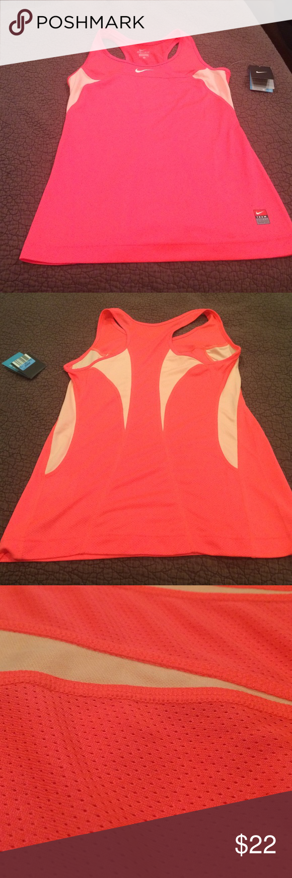 NWT Nike Dri-Fit Tank Non smoking house.  Perfect condition.  Never worn.  Beautiful unusual color. Nike Tops Tank Tops