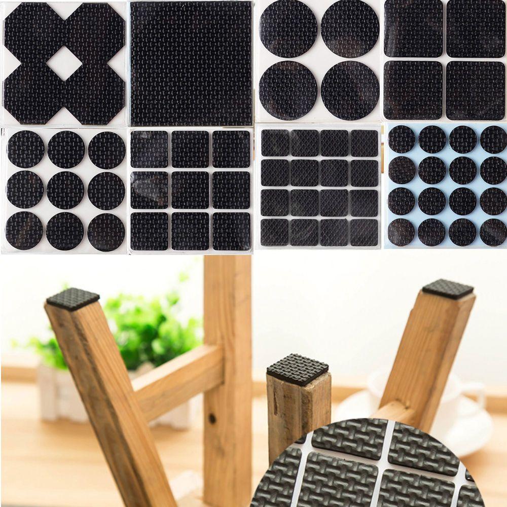 1 21 self adhesive anti slip table leg pad furniture chair bench sofa feet mat sticky ebay home garden