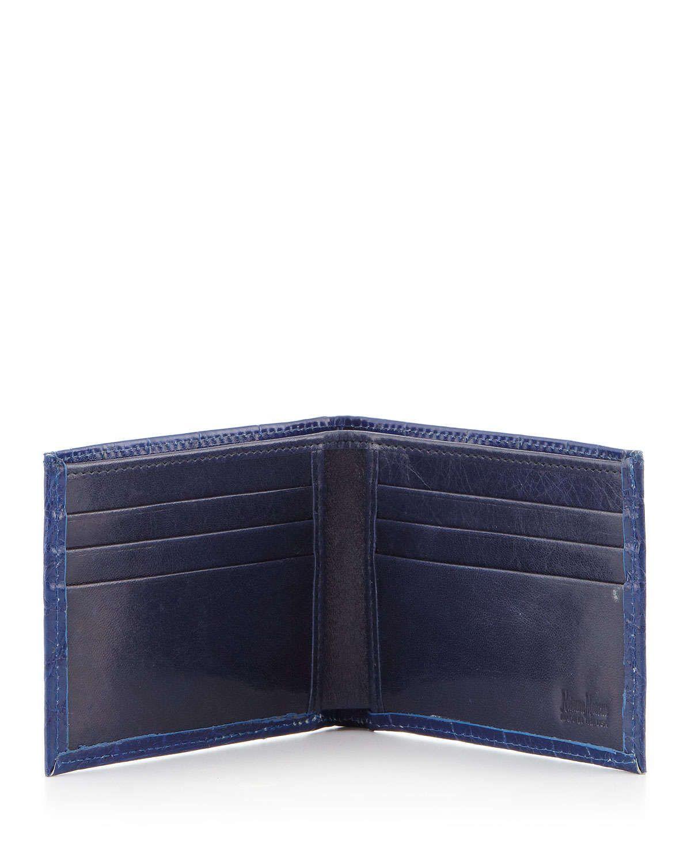 Alligator Bi-Fold Wallet, Blue
